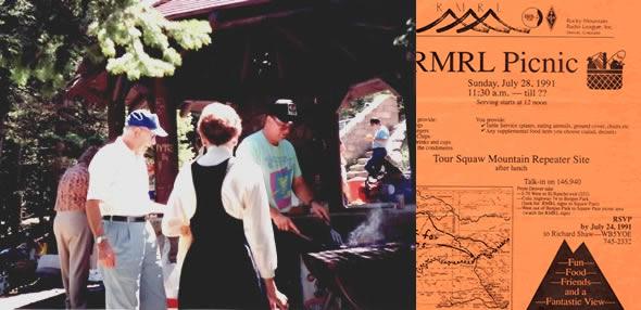 WB5YOE cooks at a 1991 picnic