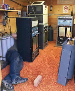repeater repair behind the equipment