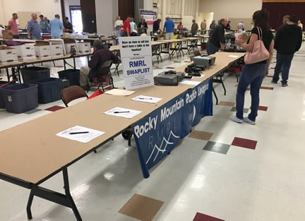 RMRL tables at the DRC hamfest