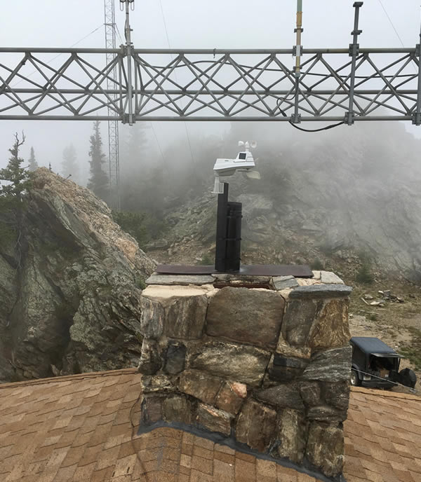 5 in 1 weather sensor on Squaw Mountain