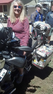 Lynaire enjoys motorcycle riding as well as ham radio